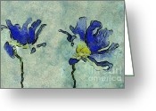 Blue Petals Greeting Cards - Duo Daisies - 02dp3b22 Greeting Card by Variance Collections