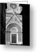 Black And White Photos Digital Art Greeting Cards - Duomo I Greeting Card by Artecco Fine Art Photography - Photograph by Nadja Drieling
