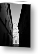 Black And White Photos Digital Art Greeting Cards - Duomo II Greeting Card by Artecco Fine Art Photography - Photograph by Nadja Drieling