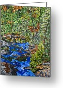 Carolina Painting Greeting Cards - Dupont Forest Greeting Card by Micah Mullen
