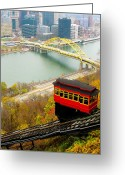 Incline Greeting Cards - Duquesne Incline Greeting Card by Jeff Bender