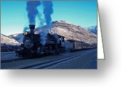 Locomotive Greeting Cards - Durango Silverton Narrow gauge  Greeting Card by Ernie Echols