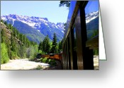 The Classic Greeting Cards - Durango Silverton Steam Train Greeting Card by Jack Pumphrey