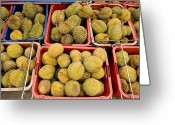 Durian Greeting Cards - Durian Fruits At An Outdoor Market Greeting Card by Tim Laman