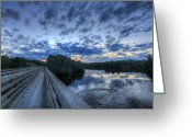 Baxter Park Greeting Cards - Dusk at the Abol Bridge Greeting Card by Lori Deiter