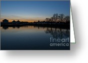 Nymphenburg Greeting Cards - Dusk at the Palace Greeting Card by Andrew  Michael