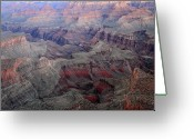 Wonders Of Nature Greeting Cards - Dusk colors at Grand Canyon Greeting Card by Pierre Leclerc