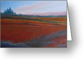 Dusk Pastels Greeting Cards - Dusk Falls on the Pumice Field Greeting Card by Jenny Armitage