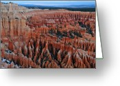 Thor Greeting Cards - Dusk in Bryce Canyon Amphitheater Greeting Card by Pierre Leclerc