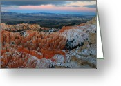 Thor Greeting Cards - Dusk in Bryce Canyon Greeting Card by Pierre Leclerc