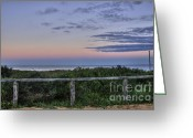 After Sunset Greeting Cards - Dusk Greeting Card by Kaye Menner