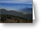 Cowee Greeting Cards - Dusk on the Blue Ridge Parkway Greeting Card by Andrew Soundarajan