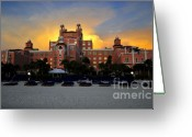 Don Greeting Cards - Dusk over Don Greeting Card by David Lee Thompson