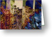 Soundscape Greeting Cards - Dusky Wildflowers Greeting Card by Robert Glover