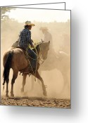 Ron Mcginnis Photography Greeting Cards - Dust and Saddle Leather Greeting Card by Ron  McGinnis