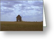 Prairie Landscape Greeting Cards - Dust Bowl Redux Greeting Card by Claude Oesterreicher