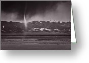 Colorado Mountains Greeting Cards - Dust Devil Over San Luis Valley Colorado Greeting Card by Steve Gadomski