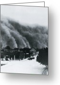 Spout Photo Greeting Cards - Dust Storm Of 1937 In Clayton, Nm Greeting Card by Science Source