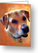 Lab Greeting Cards - Dusty Labrador Dog Greeting Card by Robert Smith