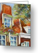 Europe Painting Greeting Cards - Dutch Gables Greeting Card by Chris Brandley