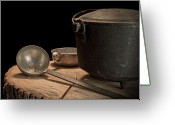 Tin Greeting Cards - Dutch Oven and Ladle Greeting Card by Tom Mc Nemar
