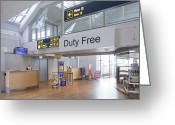 Airport Concourse Greeting Cards - Duty Free Shop at an Airport Greeting Card by Jaak Nilson