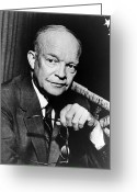 President Eisenhower Greeting Cards - Dwight D Eisenhower - President of the United States of America Greeting Card by International  Images