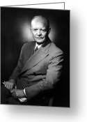 President Eisenhower Greeting Cards - Dwight Eisenhower - President of the United States of America Greeting Card by International  Images