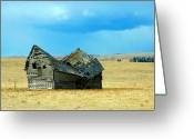 Mario Brenes Simon Greeting Cards - Dying Old Barn Greeting Card by Mario Brenes Simon