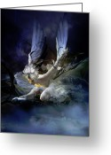 Thorns Greeting Cards - Dying Swan Greeting Card by Karen Koski