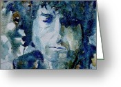 Blues Greeting Cards - Dylan Greeting Card by Paul Lovering