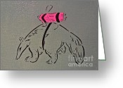 Tom Evans Greeting Cards - Dynamite Anteater Greeting Card by Tom Evans