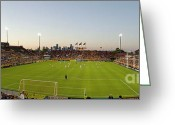 Soccer Stadium Greeting Cards - Dynamo Pano Greeting Card by Scott Pellegrin