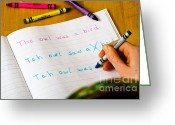 Disability Greeting Cards - Dyslexia Testing Greeting Card by Photo Researchers, Inc.