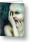 Sadness Greeting Cards - Dysthymia Greeting Card by Karen Koski
