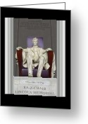 Coat Greeting Cards - Ea-Z-Chair Lincoln Memorial Greeting Card by Mike McGlothlen