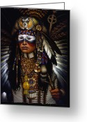 Native American Greeting Cards - Eagle Claw Greeting Card by Jane Whiting Chrzanoska