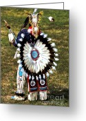 Black Elk Greeting Cards - Eagle Feathers Greeting Card by Chris Brewington