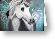 Quarter Horse Greeting Cards - Eagle Feathers Greeting Card by Laura Barbosa