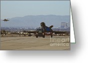Usaf Greeting Cards - Eagle Landing in Vegas Greeting Card by Tim Mulina
