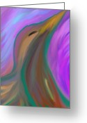 Spirit Rising Greeting Cards - Eagle Spirit Rising Nordegg Alberta Greeting Card by Richard D Mabb