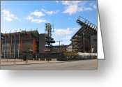 Lincoln Field Greeting Cards - Eagles - The Linc Greeting Card by Bill Cannon