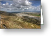 Kinvarra Greeting Cards - Eagles Rock View in The Burren Greeting Card by John Quinn