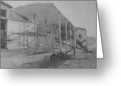 Daredevil Greeting Cards - Early Aviation Greeting Card by Gwyn Newcombe