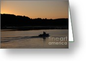 Saco River Greeting Cards - Early Bird Greeting Card by Michael Mooney