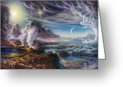 Natural History Greeting Cards - Early Earth Greeting Card by Don Dixon