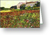 Featured Artist Painting Greeting Cards - Early Evening at Cape Cod Greeting Card by David Lloyd Glover