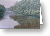 Woods Pastels Greeting Cards - Early Fall Serenity Greeting Card by Joann Renner