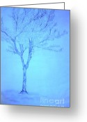 Oak Leaf Drawings Greeting Cards - Early Frost Greeting Card by Randy Edwards
