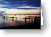 Jensen Beach Greeting Cards - Early In the Morning Greeting Card by Joyce L Kimble
